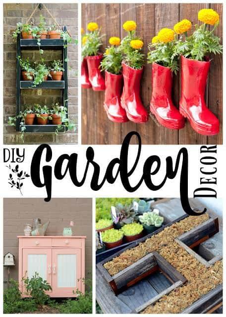 Awesome DIY Garden Decor / garden gnomes / planters /