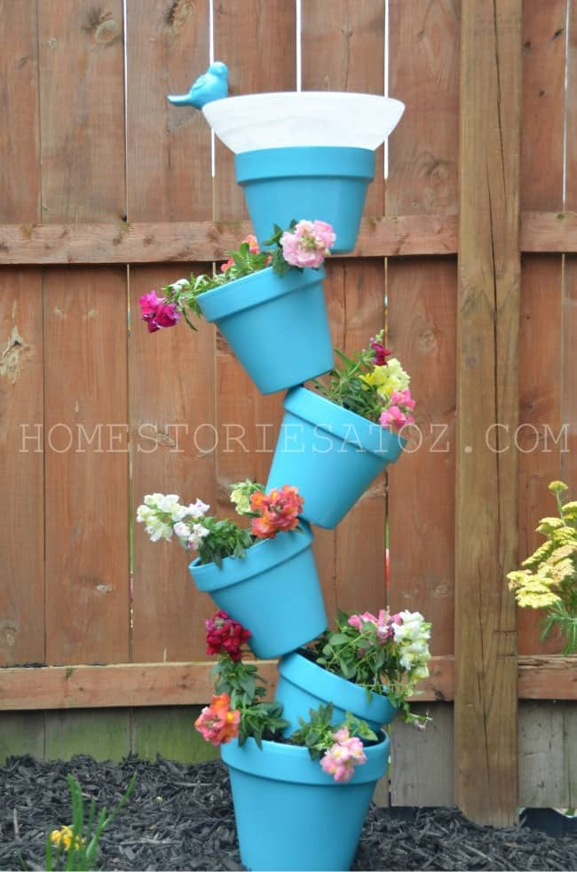 Plastic Outdoor Planters Gardening with kids 20 diy outdoor planters by just the woods simple backyard gardening garden with kids growing vegetables and raised garden beds in a workwithnaturefo