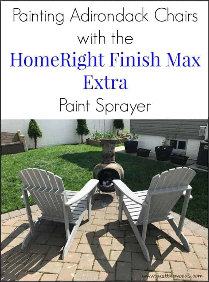 how to paint adirondack chairs, paint sprayer, Painting Outdoor Adirondack Chairs with HomeRight paint sprayer