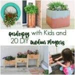 Gardening with Kids & DIY Outdoor Planters
