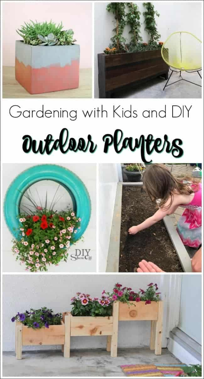 Simple Backyard Gardening with Kids, Simple backyard gardening, garden with kids, growing vegetables and raised garden beds in a small city backyard. 20 DIY outdoor planters. Outdoor planter, outside planters, outdoor plant containers, outdoor plant containers, outdoor garden pots, outdoor planter pots, outdoor plant pots, garden planters, outdoor pots and planters, decorative outdoor planters