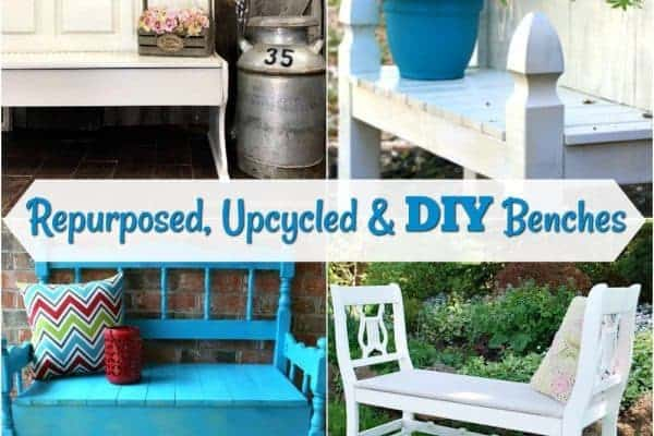 Repurposed, Upcycled & DIY Benches