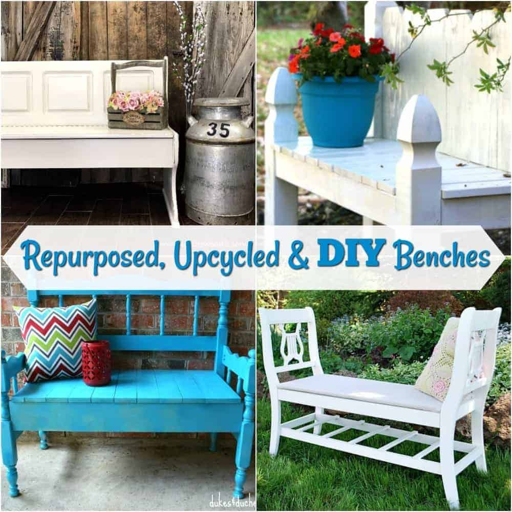 Repurposed And Upcycled Farmhouse Style Diy Projects: Repurposed, Upcycled & DIY Benches By Just The Woods