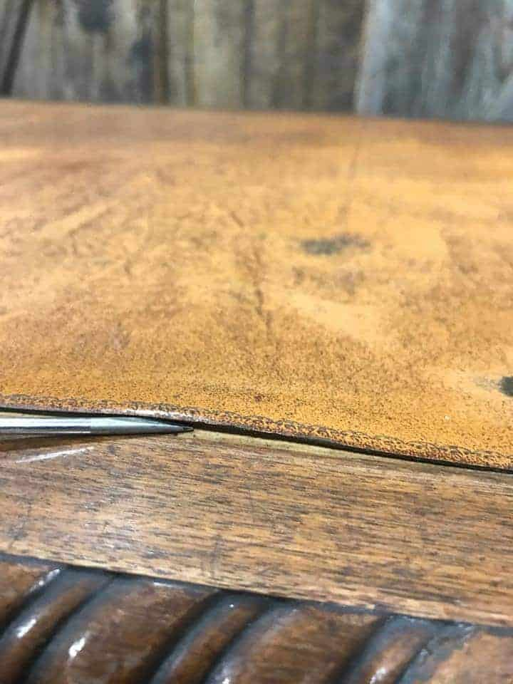 How to Save the Leather Top on a Vintage Desk / leather separating from the desktop / needs repair