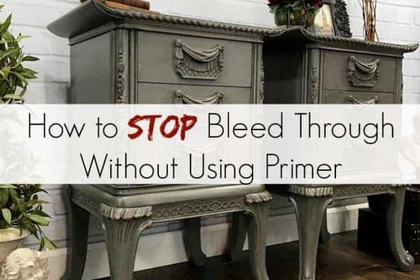 How to Stop Bleed Through Without Using Primer