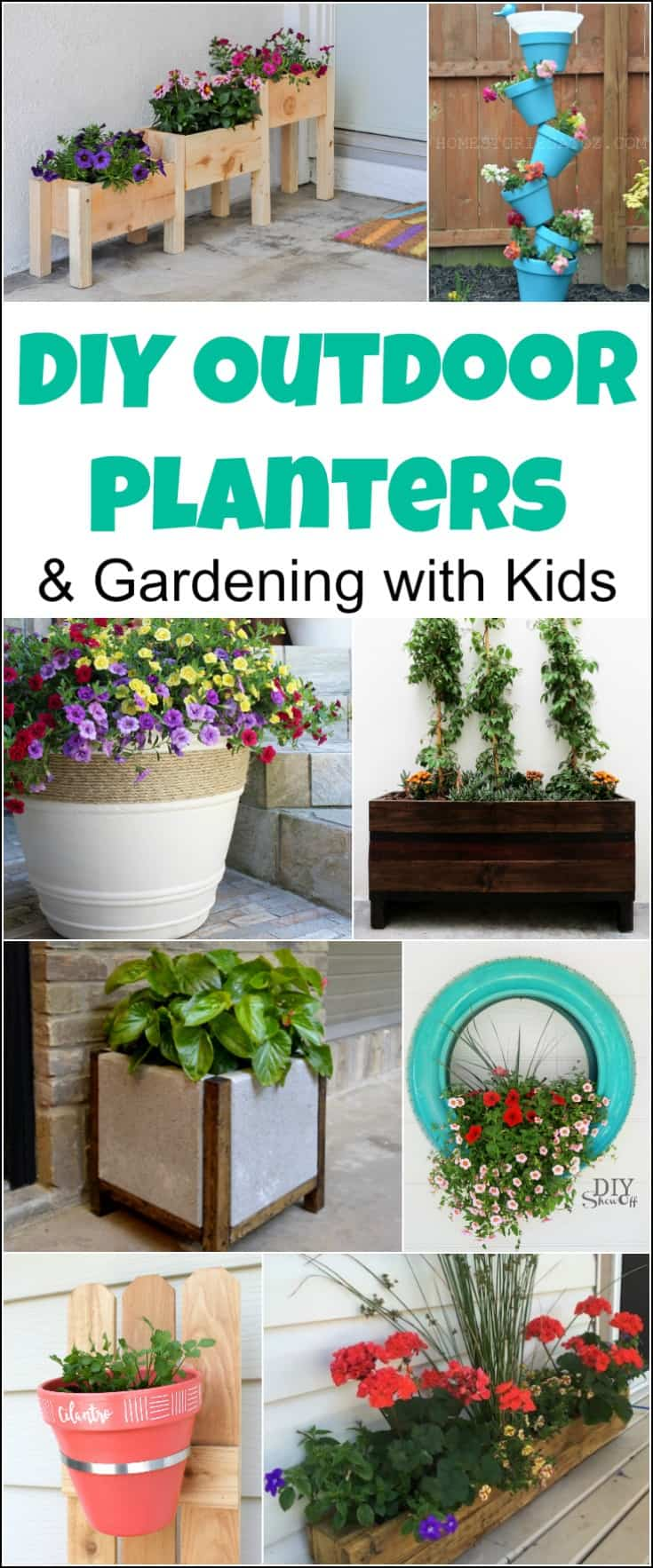 ... Decorative Garden Containers Gardening With Kids U0026 20 Diy Outdoor  Planters By Just The Woods ...
