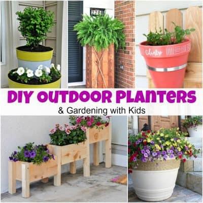 DIY Decorative Outdoor Planters & Gardening with Kids