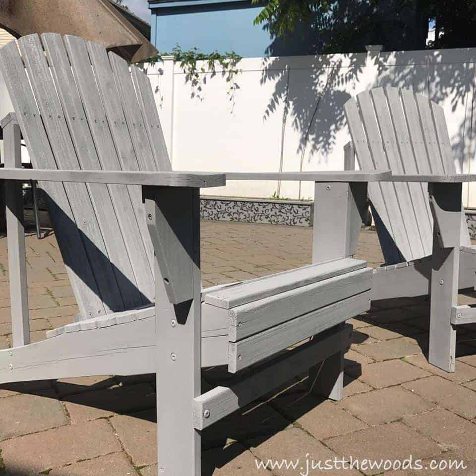 Painting Outdoor Adirondack Chairs, paint sprayer to paint chairs, patio chairs