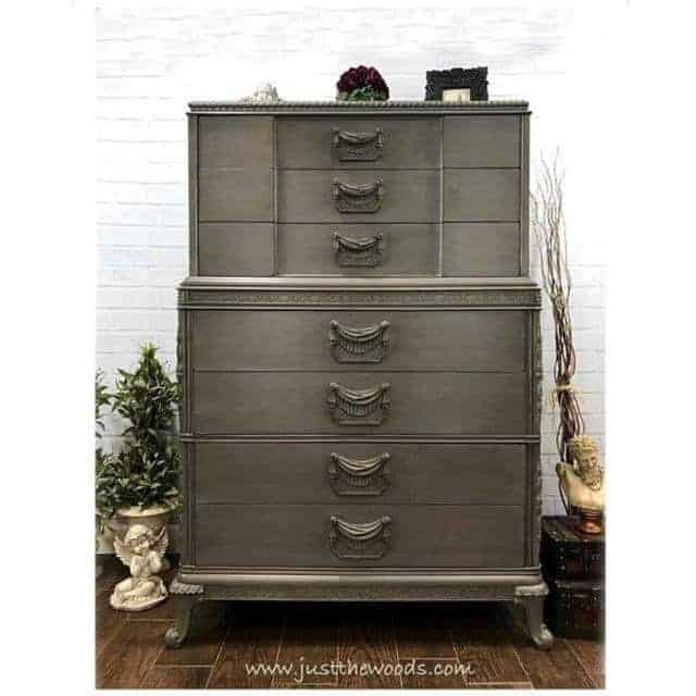 How to Glaze Furniture for an Old World Finish by Just the Woods / vintage dressers / painted furniture / painted and glazed / old world style