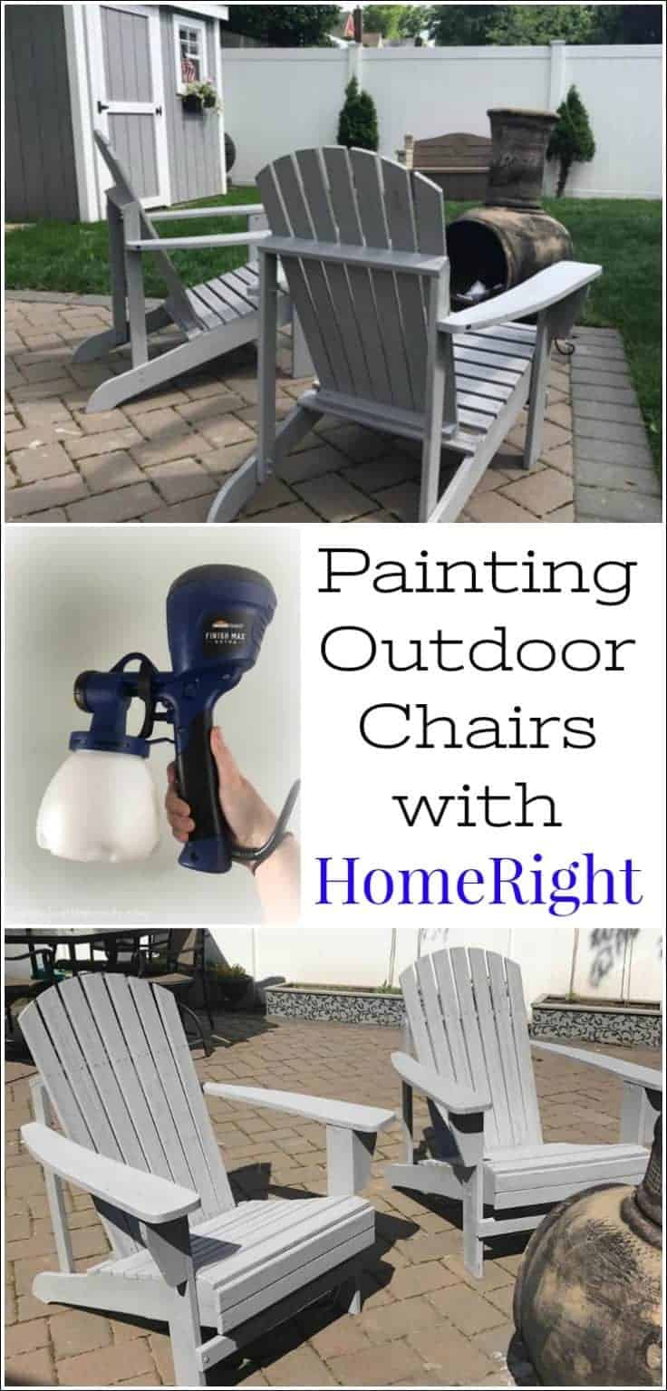 Painting Outdoor Adirondack Chairs with HomeRight Finish Max Extra