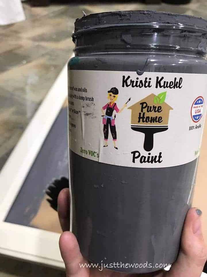 pure home paint, non toxic paint, chalk paint, gray paint