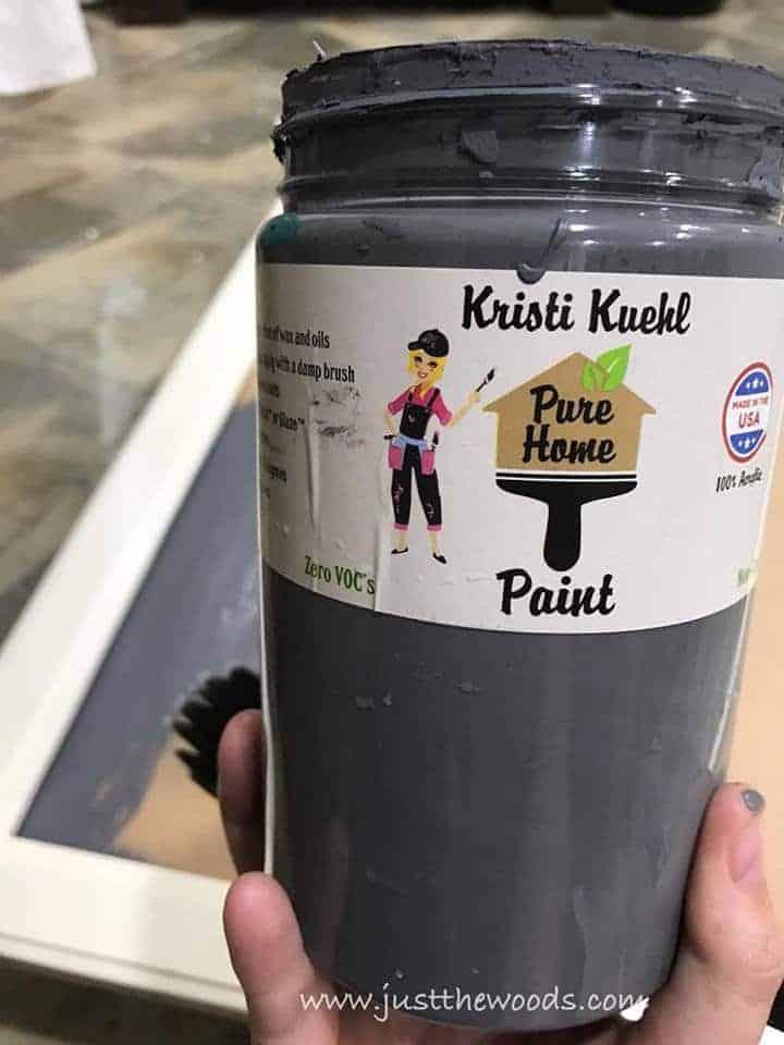 pure home paint, non toxic paint, chalk paint, gray paint