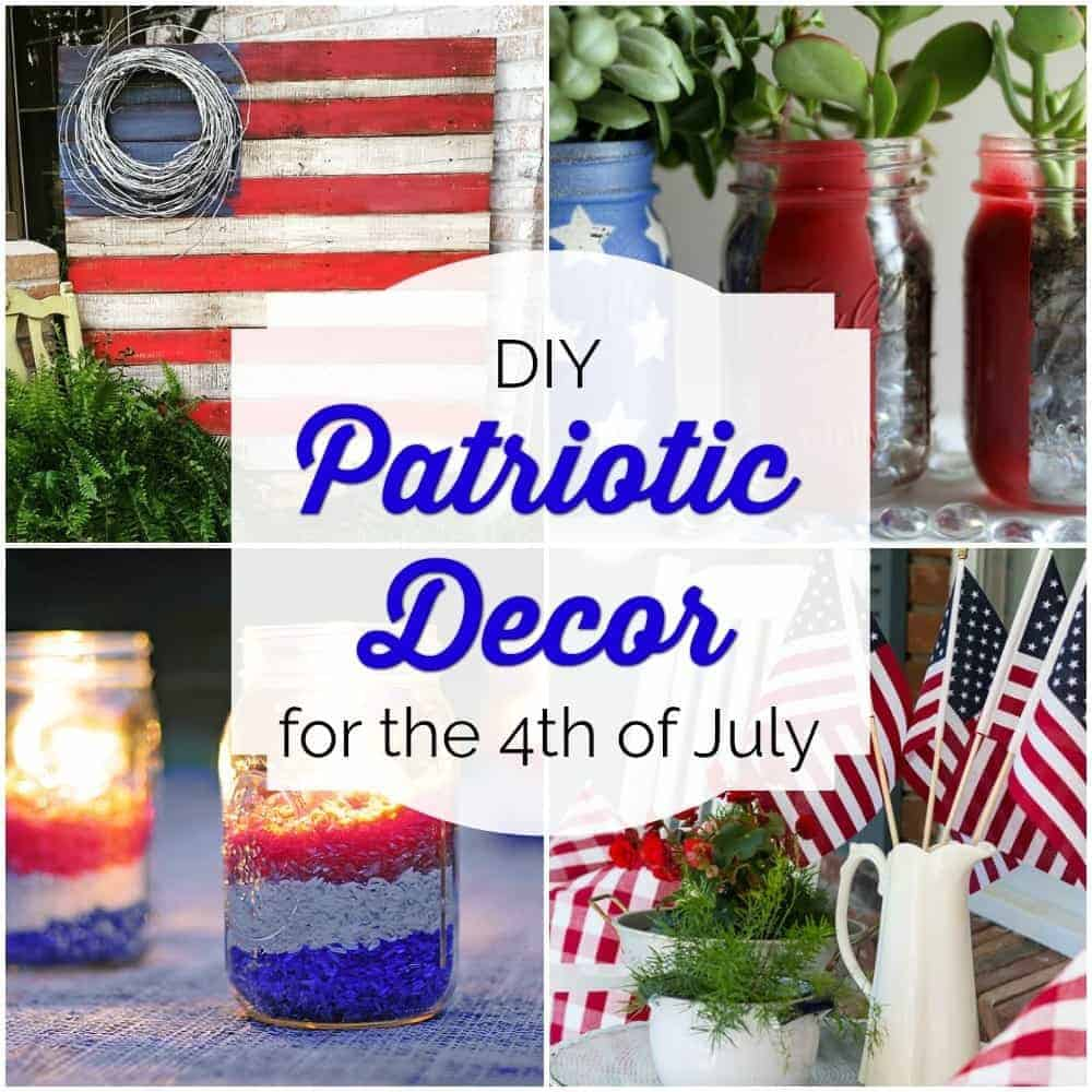 red, white & blue decor