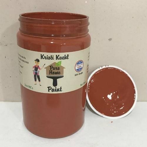 pure home paint, non toxic paint, chalk paint, paprika