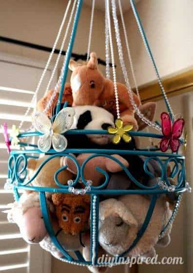 hanging toy storage ideas, diy toy storage ideas, cheap toy organization, ideas for toy storage