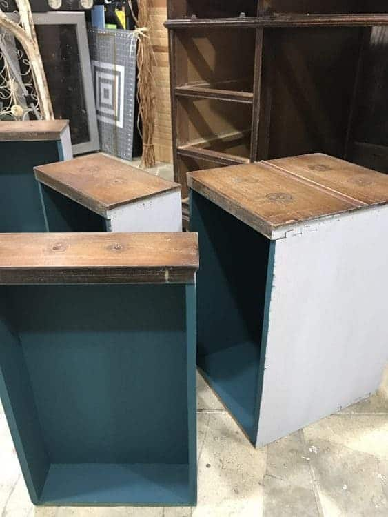 How to Save the Leather Top on a Vintage Desk / painting inside drawers of vintage desk