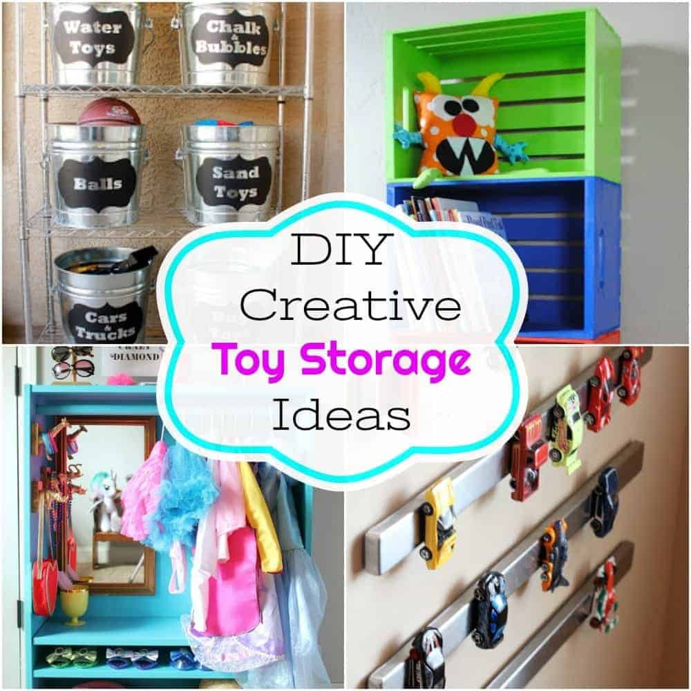 toy storage, toy box, painted toy box