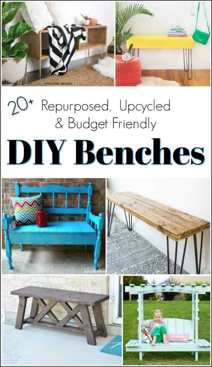 diy benches, how to make a bench, build a bench
