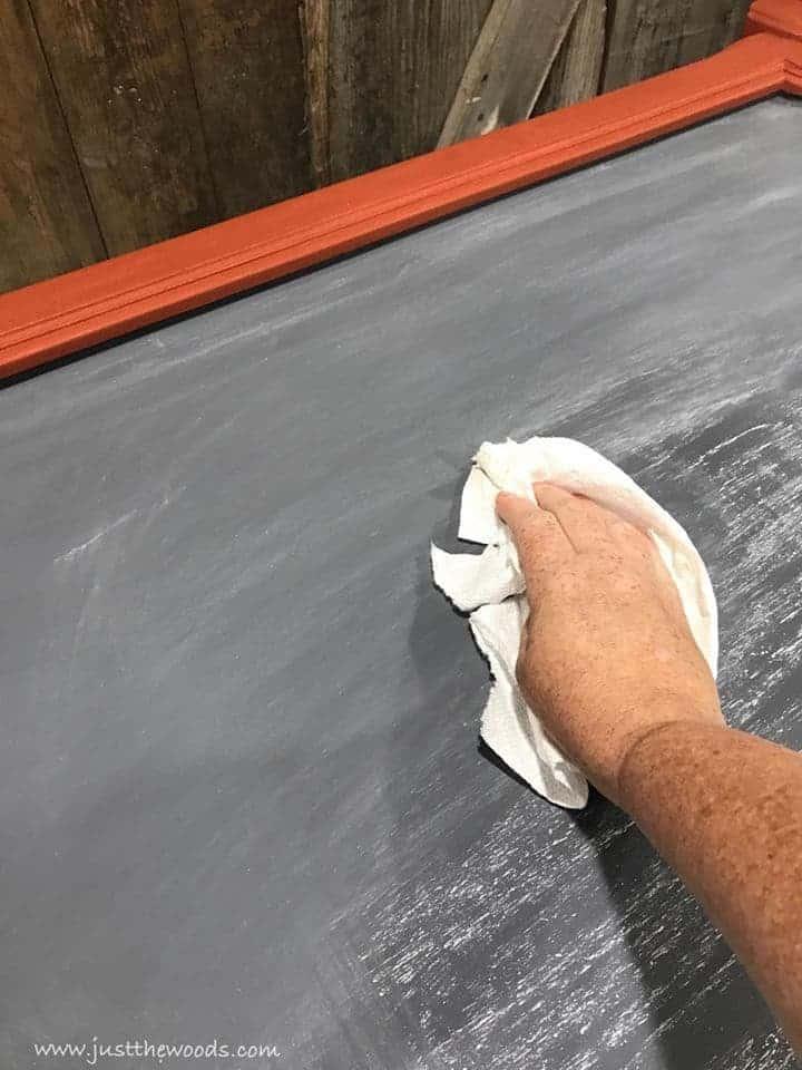 how to season a diy chalkboard