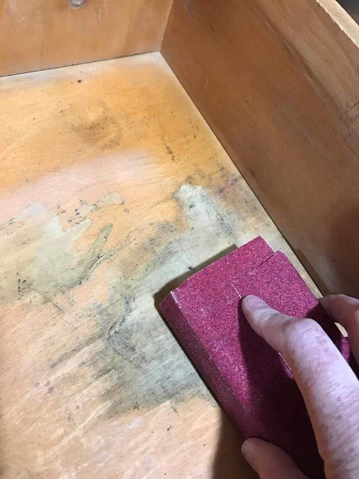 How to Save the Leather Top on a Vintage Desk / cleaning inside of vintage desk drawers