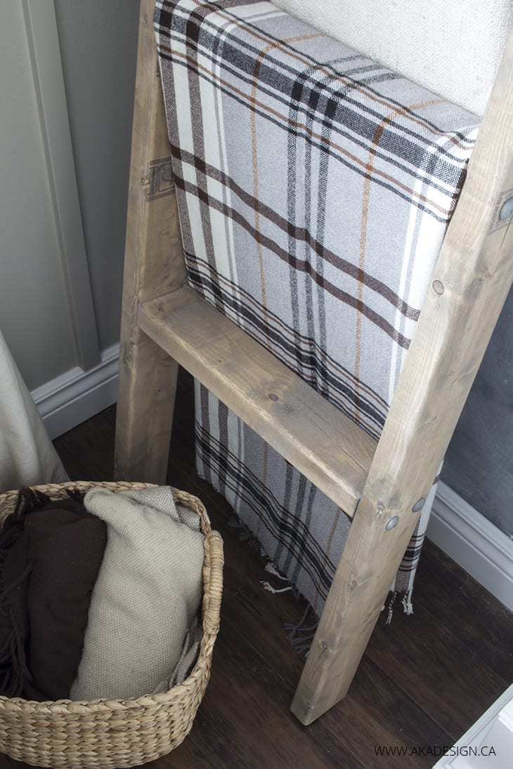 blanket ladder, diy blanket ladder, build with 2 x 4s, how to
