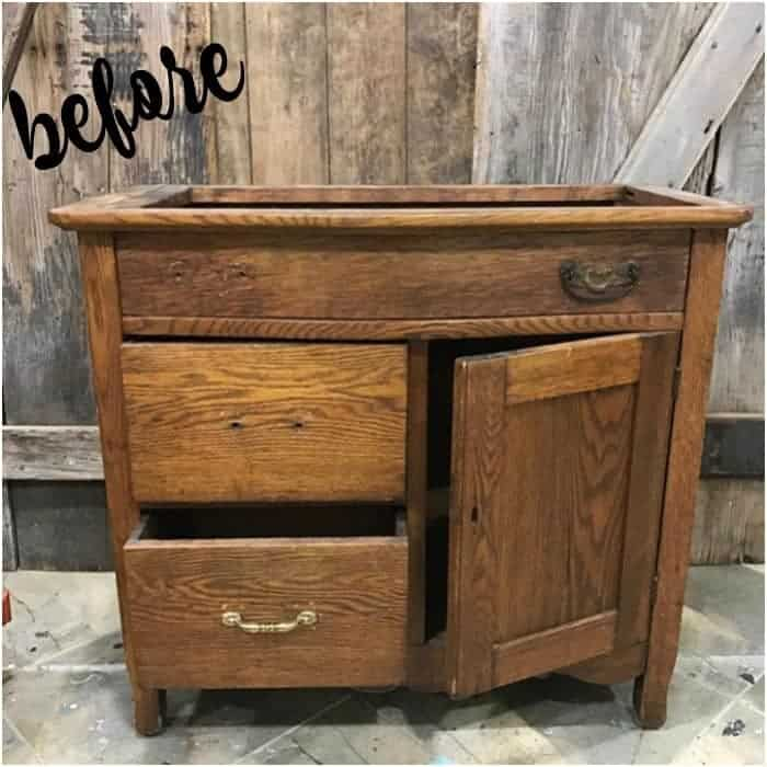 turn of the century washstand, vintage cabinet, staten island, painted furniture, missing hardware