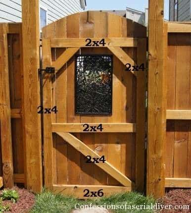 build a gate, how to build a gate, wooden gate, tutorial, confessions of a serial diyer