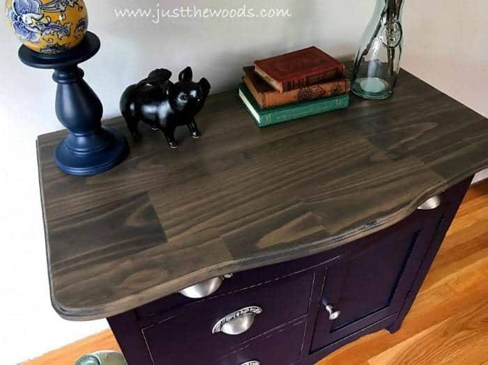 weathered wood table top, painted furniture, eggplant chalk paint