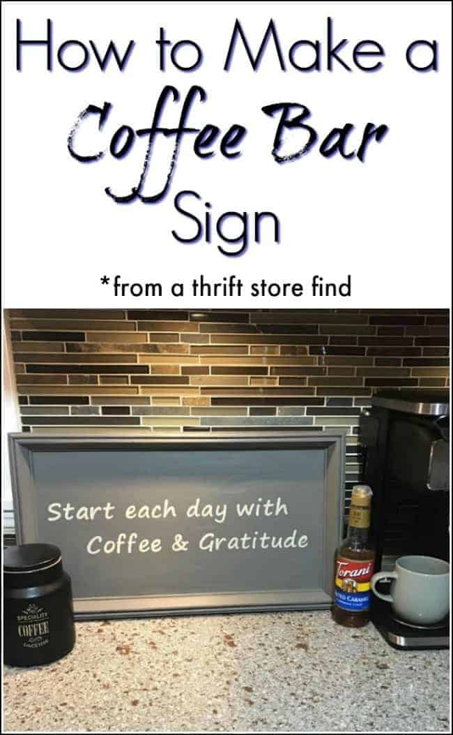 How to Make a Coffee Bar Sign from a Thrift Store Find / Just the Woods