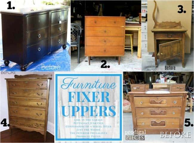 How to build a new table top for old furniture by just the Does the furniture stay on fixer upper