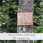 How to Make a Stenciled DIY Address Sign