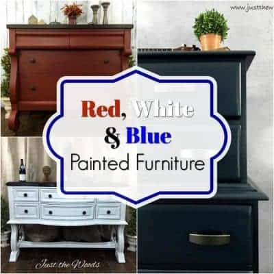 Red, White & Blue Painted Furniture