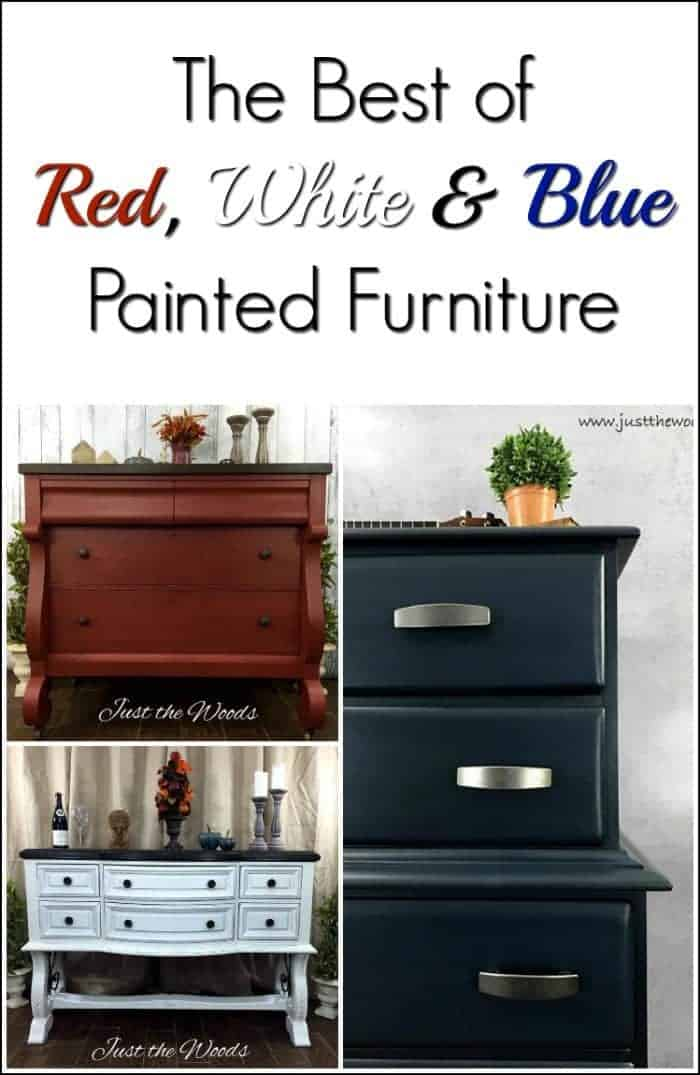 Red, White & Blue Painted Furniture By Just The Woods
