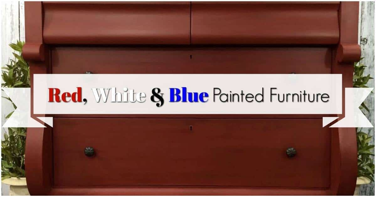 Red  White   Blue Painted Furniture by Just the Woods. Red White And Blue Painted Furniture. Home Design Ideas