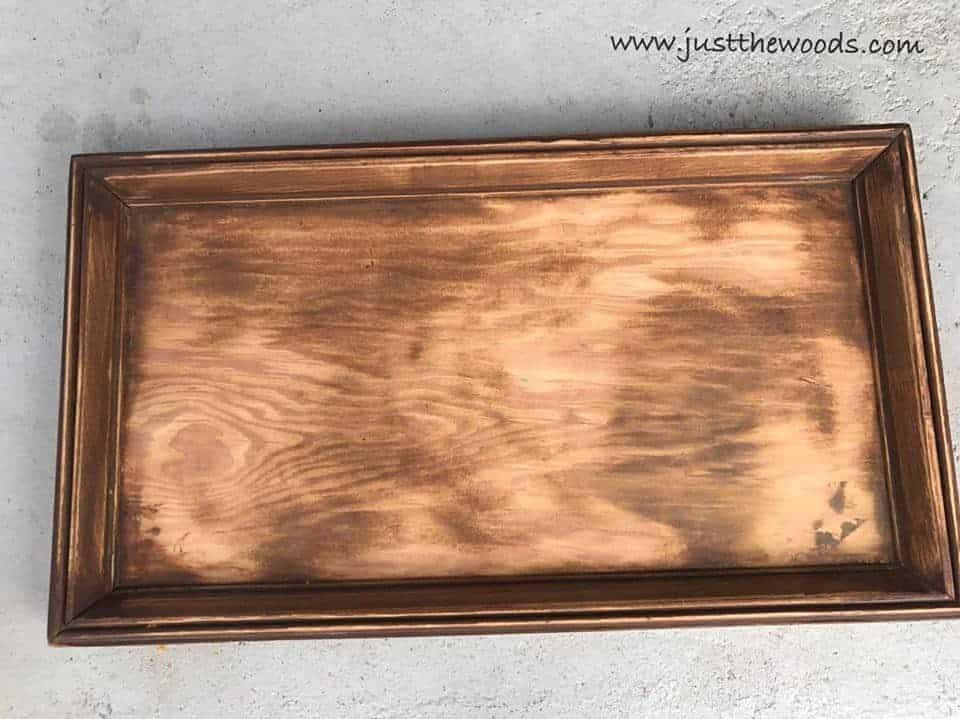 sanded wooden sign
