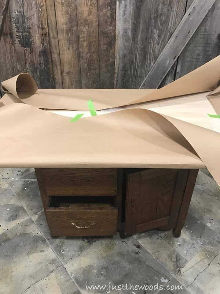 How to Build a New Table Top for Old Furniture , create template