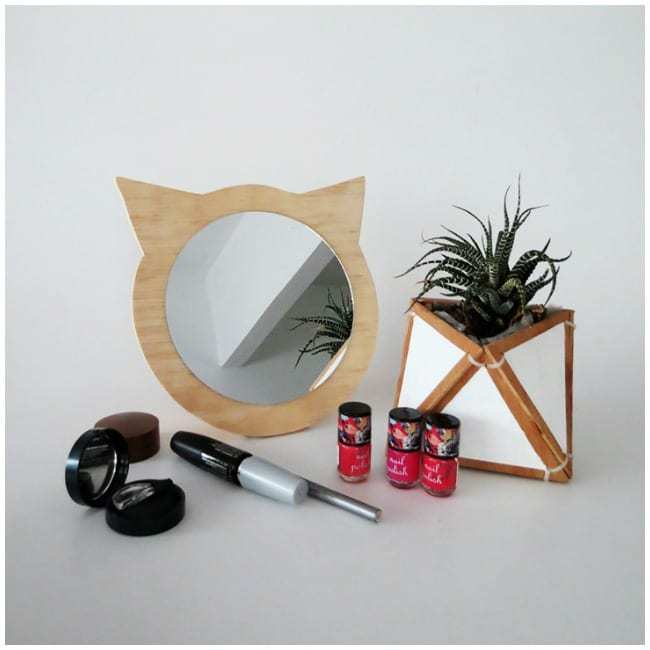 cat mirror, diy mirror