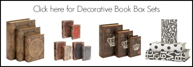 decorative book box sets, faux books, fake books