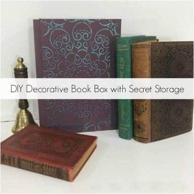 How to Make a DIY Book Box with Secret Storage