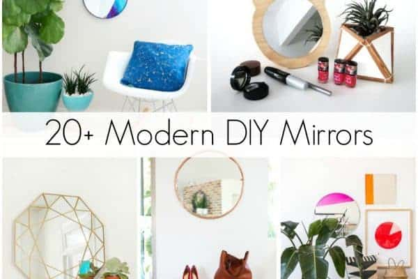 20+ Modern DIY Mirrors to Inspire You and Beautify your Home