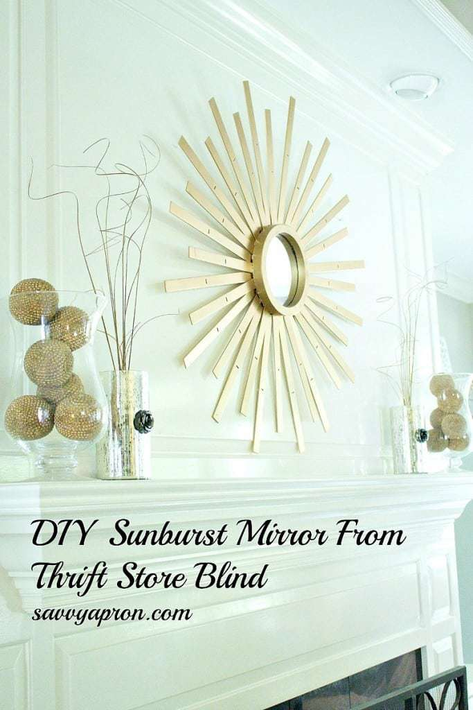 sunburst, mirror, gold mirror, upcycle