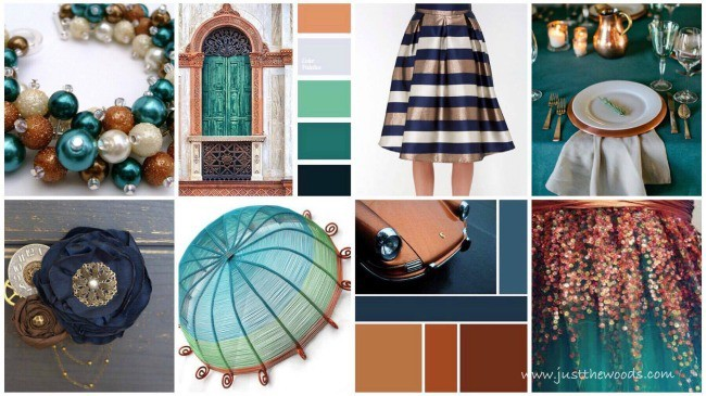bronze, copper, teal, blue, metallic, inspiration