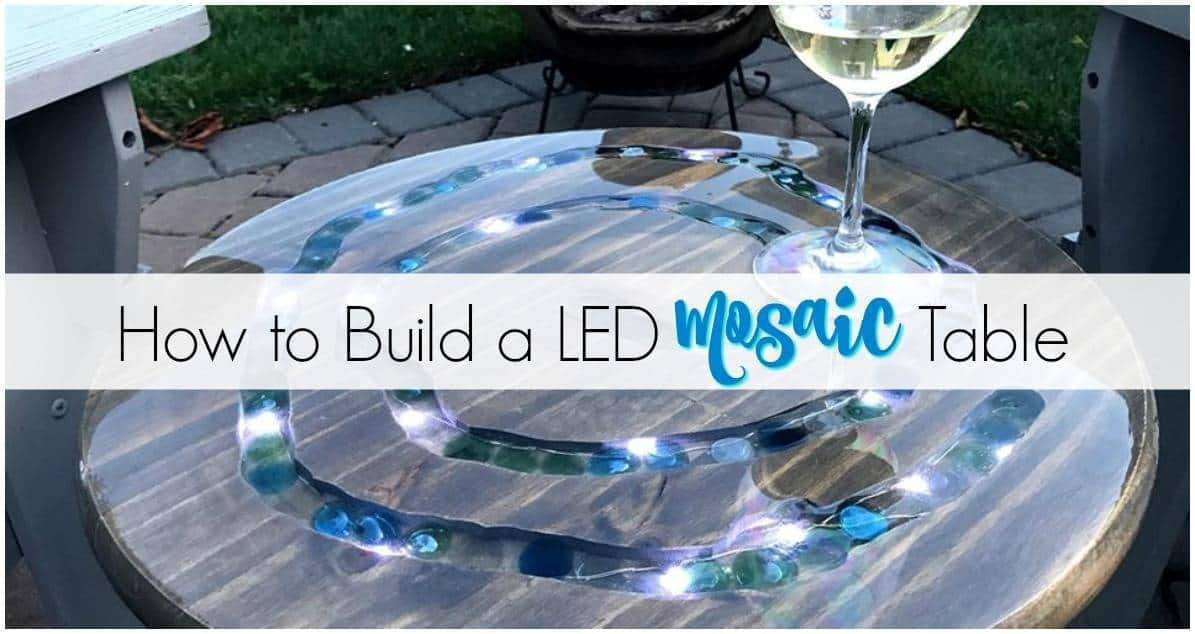 How to Make a Unique LED Mosaic Table with Gems & Lights
