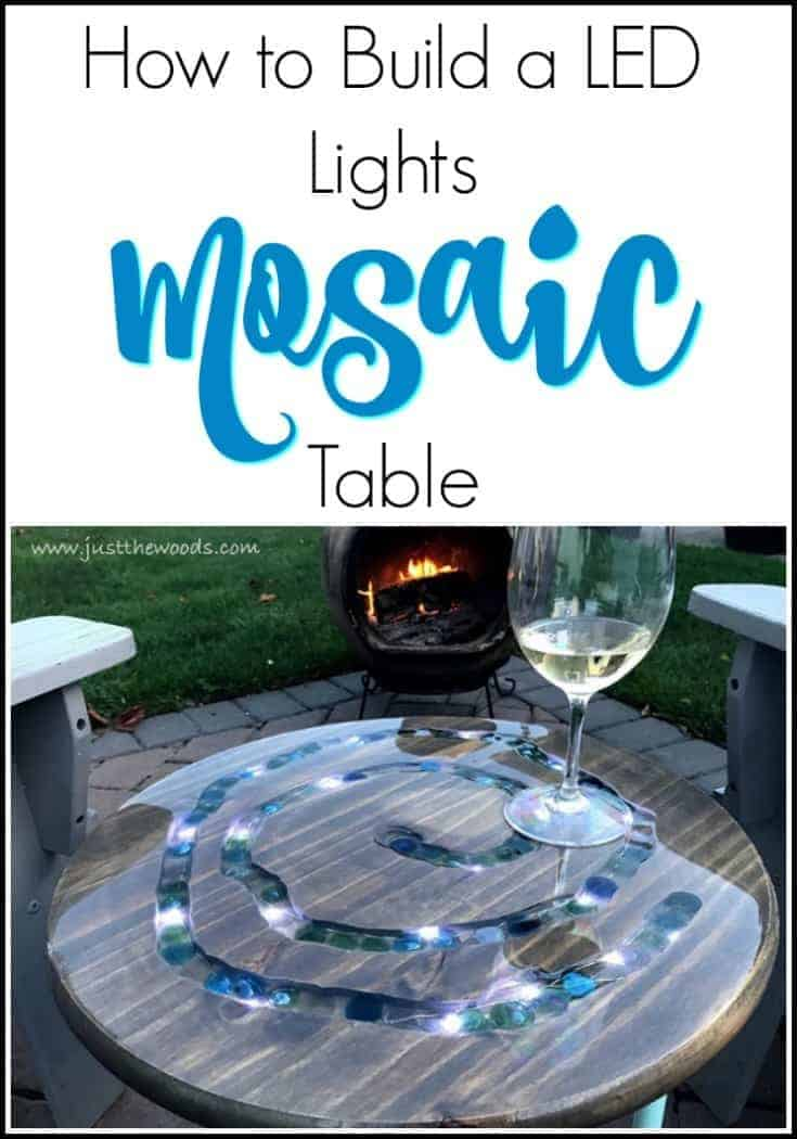 How to Make a Unique LED Mosaic Table by Just the Woods