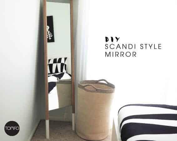 scandi mirror, floor mirror, modern mirror