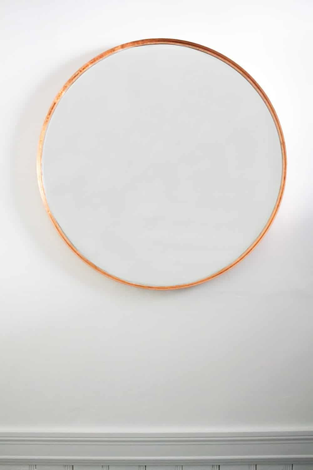 simple copper mirror