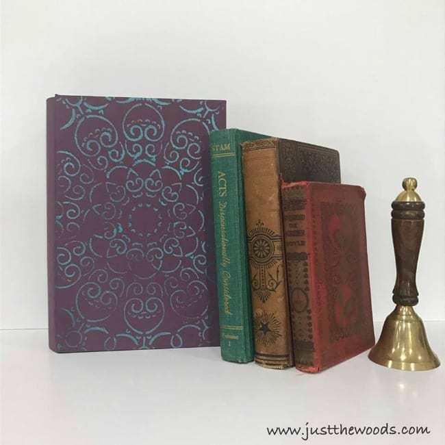 book box, decorative, faux, stencil, doily, diy, craft, deco art