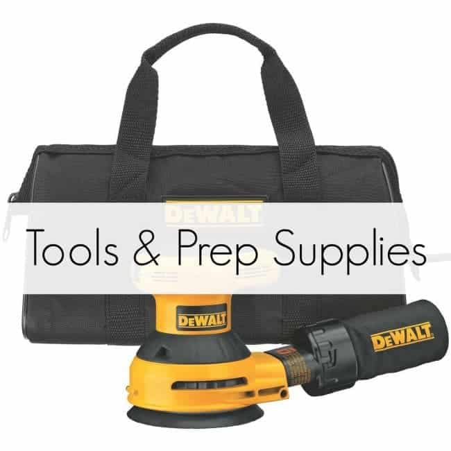 tools and prep supplies