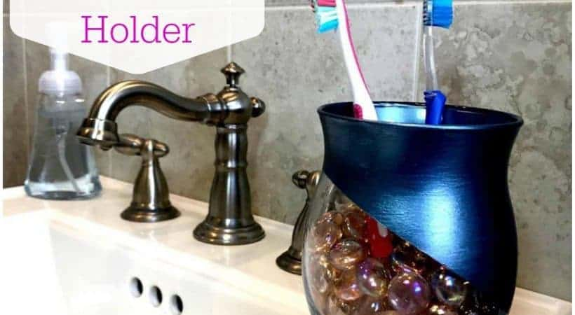 DIY Toothbrush Holder for a Small Bathroom