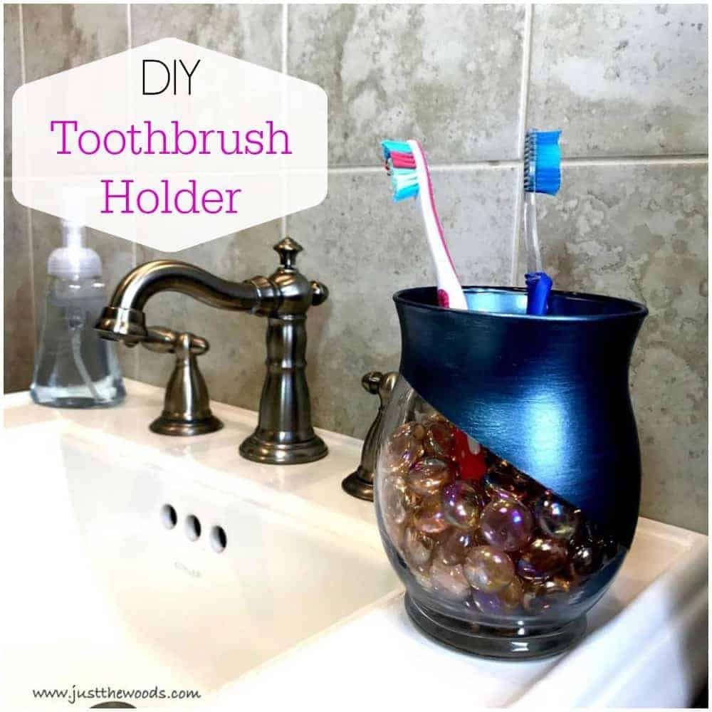 Toothbrush Holder For A Small Bathroom Easy Affordable Diy